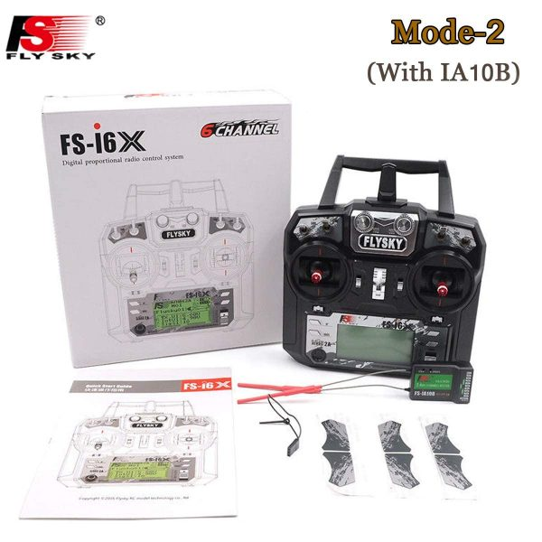 Transmisor Flysky FS-i6X 10CH 1