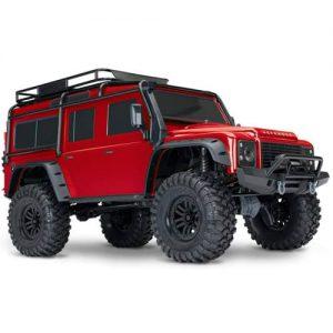 traxxas land rover rojo